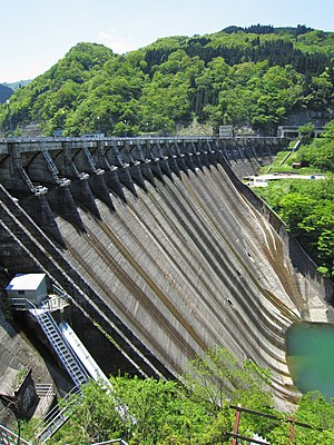 Komaki Dam - Downstream face