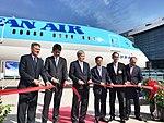Korean Air's first 787 ribbon cutting (32238943583).jpg