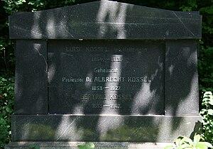 Albrecht Kossel - Kossel's grave in Heidelberg