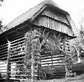 Kozolec z lanom, Male Lipljene 1948.jpg