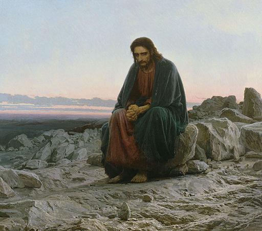 Kramskoi Christ dans le désert