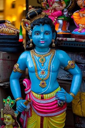 Golu - Image: Krishna, The Beautiful Blue God Navarathri Golu Dolls (15278867139)