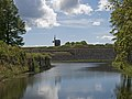 Kuressaare Castle post mill across the moat.jpg