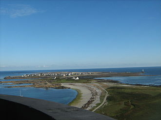 Île de Sein - L'île de Sein seen from the lighthouse