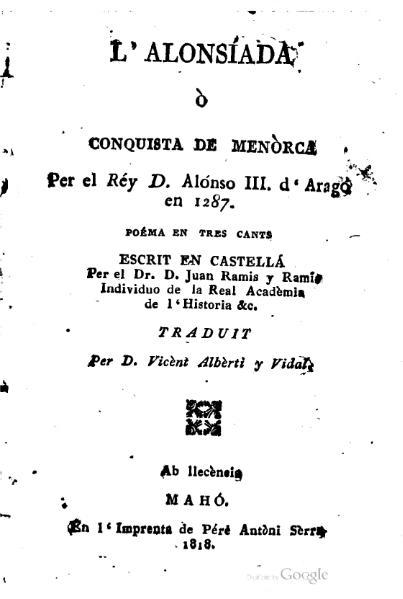 File:L'Alonsíada ò conquista de Menòrca (1818).djvu
