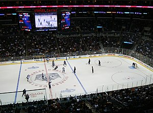 2011–12 Columbus Blue Jackets season - The Staples Center clock (score board shown) appeared to freeze costing the Blue Jackets a standings point