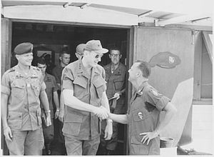 Frederick C. Weyand - 22 March 1969, LTG Frederick Weyand stops in South Vietnam for update briefings at HQ 5th SFG(A) in Nha Trang.