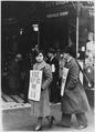 Labor-Strikes-New York City, New York-strike pickets along street FSA photo by - NARA - 196513.tif