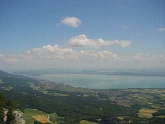 Lake Neuchâtel - With Lakes Biel and Morat in the background