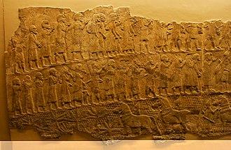Siege of Lachish - Image: Lachish Relief, British Museum