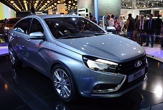 Lada Vesta - The concept car introduced in 2014