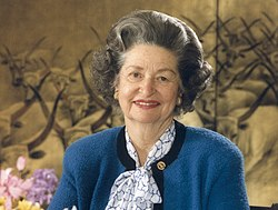Lady Bird Johnson 1987 (cropped)