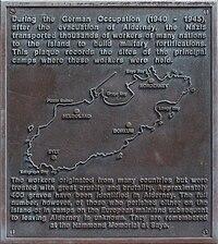 Lageplan Konzentrationslager Aldeney B