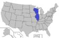 Lake Michigan Conference (defunct) map.png