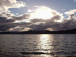 Lake Waikaremoana - Solnedgang over Lake Waikaremoana.