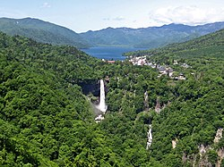 Lake chuzenji and kegon waterfall.jpg