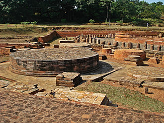 Lalitgiri - Full view of the chaityagriha stupa complex in Lalitgiri