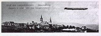 Langenlonsheim - Zeppelin over Langenlonsheim on 22 June 1910