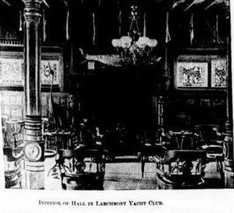 Larchmont Yacht Club - Larchmont Yacht Club House Interior c 1894