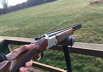 Clay pigeon shooting - Image: Laser Clay Shooting Gun