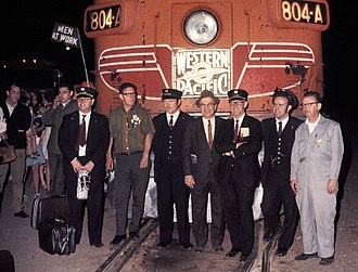 California Zephyr (1949–1970) - The crew of the last California Zephyr upon its arrival in Oakland in 1970
