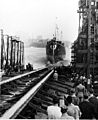 Launch of USS Knight (DD-633) at the Boston Naval Shipyard on 27 September 1941.jpg