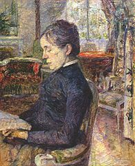 Adéle de Toulouse-Lautrec in the salon at Malromé
