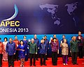 Leaders from U.S., Taiwan, Phillipines, Singapore, Thailand, Vietnam, Russia, and Indonesia @ 2013 Asia-Pacific Economic Cooperation (APEC) in Bali.jpg