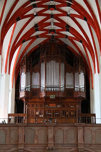 St. Thomas Church, Leipzig - Image: Leipzig Church St Thomas Sauer Organ