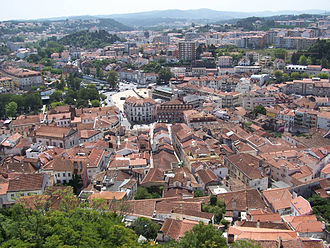 Leiria - Downtown Leiria seen from its castle.