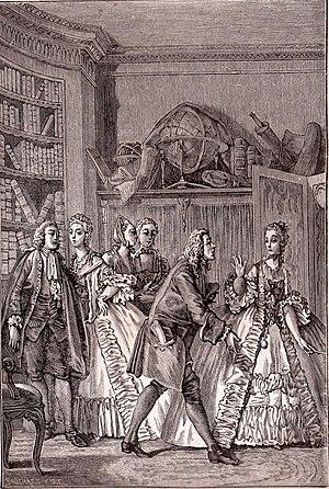 Les Femmes Savantes - Les Femmes savantes (engraving by Moreau le jeune)