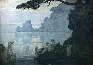 Nymphs, forest and the sea