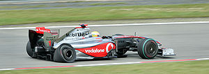 2009 German Grand Prix - Lewis Hamilton qualified and started strongly, but suffered a puncture on the opening lap as a result of contact with Webber.