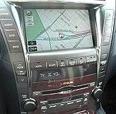 The fifth-generation Lexus touchscreen navigation system.