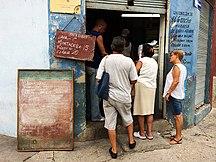 Cuba-Economy-Libreta line Havana