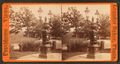 Light fixture and drinking fountain in the park, by Leander Baker.png