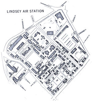 Europaviertel (Wiesbaden) - Map of Lindsey Air Station from the 1970s
