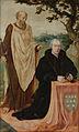 Linkervleugel van een drieluik met portret van de stichter Matelief Dammasz en de heilige Paulus (voorkant) en de Sibylla Erythraea (achterkant) Rijksmuseum SK-A-1910.jpeg