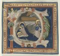 Lippo Vanni - Historiated Initial (P) Excised from a Gradual- The Nativity - 1924.1011 - Cleveland Museum of Art.tif