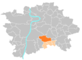 Location map municipal district Prague - Praha 11.PNG