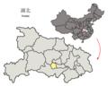 Location of Qianjiang within Hubei (China).png