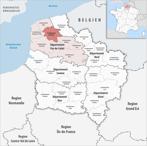 Arrondissement of Saint-Omer - Image: Locator map of Arrondissement Saint Omer
