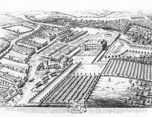 Londesborough Hall - Londesborough Hall from Britannia Illustrata by Kip and Knyff (1709)