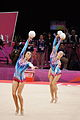 London 2012 Rhythmic Gymnastics - Belarus balls.jpg
