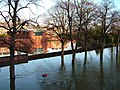 Looking across the flooded Severn from the back of Shrewsbury School Chapel - geograph.org.uk - 1478677.jpg
