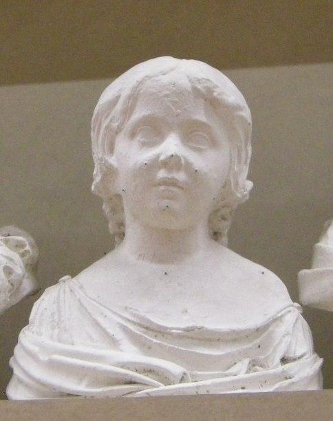 Lorenzo bartolini, ritratto di elisa bonaparte da bambina, gesso