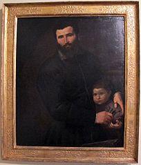 Portrait du chirurgien Gian Giacomo Bonamigo avec son fils Giovanni Antonio