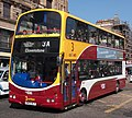 Lothian Buses bus 720 Volvo B7TL Wrightbus Eclipse Gemini SN55 BLV Madder and White livery Route 3 Connect branding.jpg