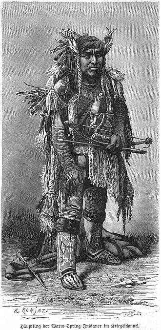 Chinookan peoples - Lower Chinook chief from Warm Spring reservation (1886).