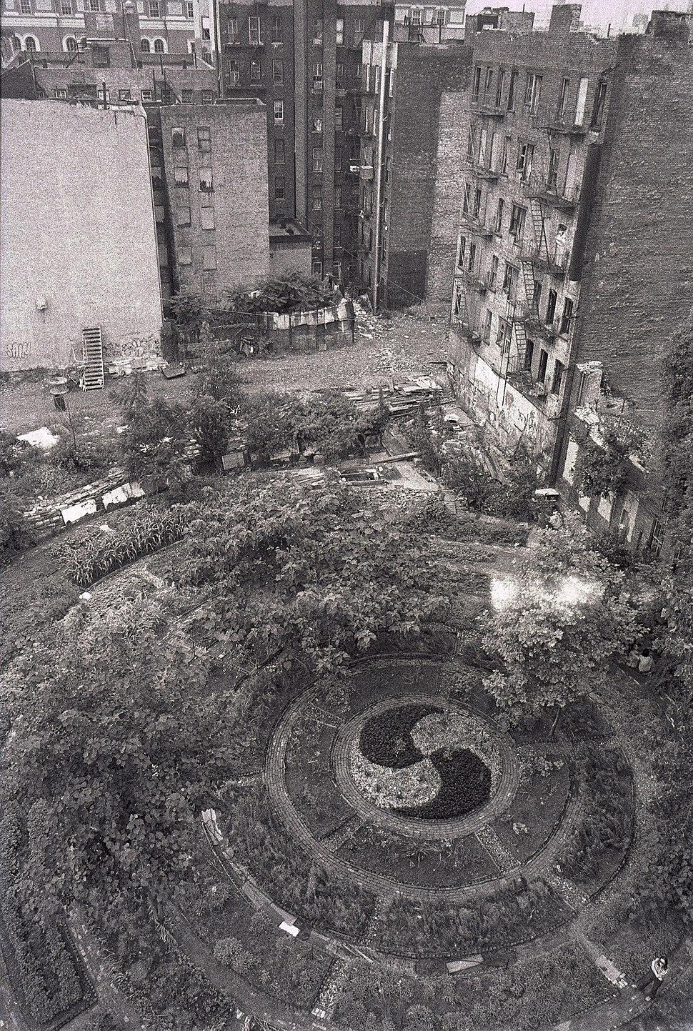 Lower East Side in Adam Purple's Garden 1984.